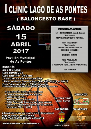 I Clínic Lago de As Pontes - Baloncesto Base