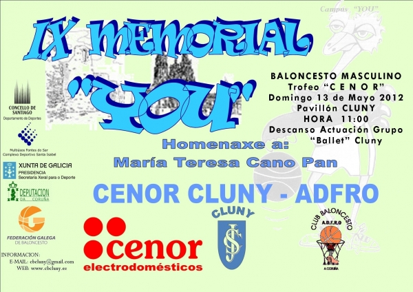 "Cenor Cluny e ADFRO, protagonistas no IX ""Memorial You"""